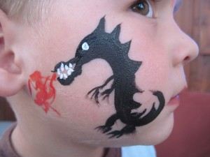 Black Fire Breathing Dream Dragon