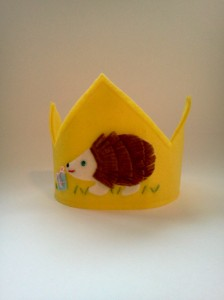 Felt Birthday Crown Hedgehog