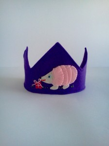Pink Felt Hedgehog Birthday Crown