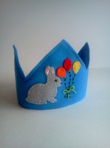 Felt Bunny Rabbit Birthday Crown