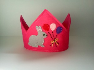 Pink Bunny Birthday Crown Woo Who Etsy