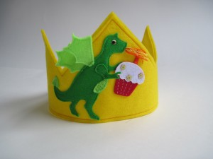 Felt Dragon Birthday Crown from Woo Who