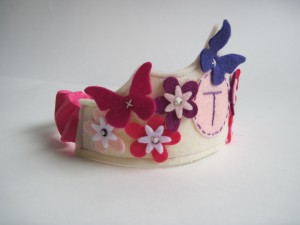 Felt Butterfly Crown with Personalization from Woo Who