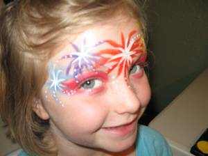Eye Fish Very Hungry Caterpillar And Fire Works Face Paint Designs Woo Who