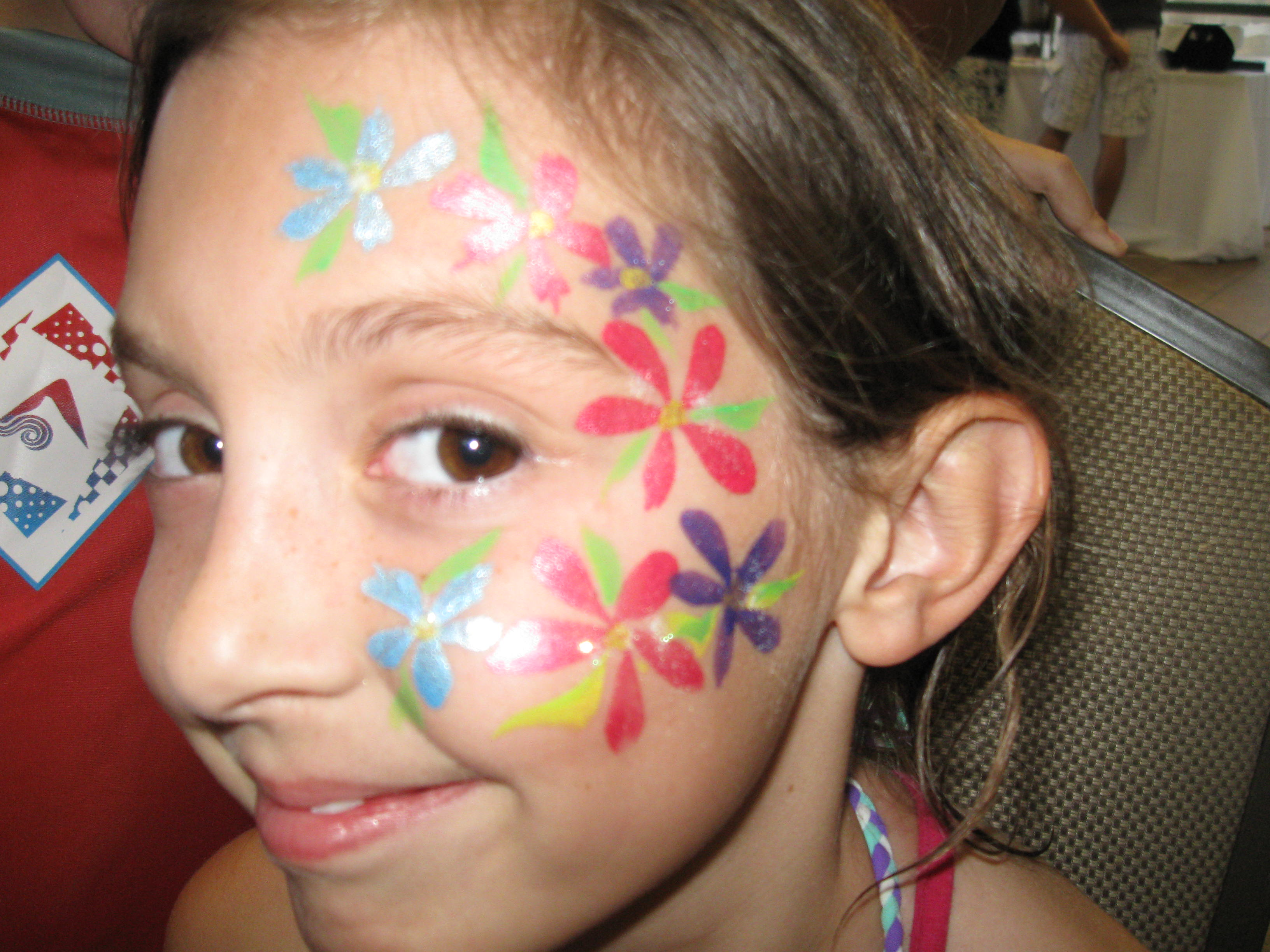 Flower Face Painting Images