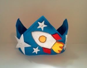 Rocket Ship Felt Birthday Crown